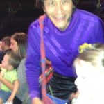 OK, not a great picture - but ALL of the Wiggles stopped and said hi to Brooklyn during the concert!!!
