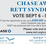 $250,000 for Rett Syndrome Research – one vote!